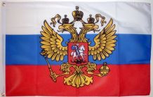RUSSIA (WITH CREST) - 5 X 3 FLAG